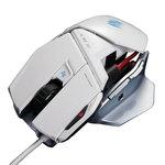 Souris laser pour gamer (coloris blanc)