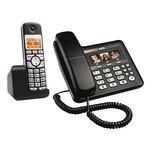 Téléphone filaire + combiné sans fil DECT (version française)