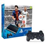 Console Playstation 3 Ultra Slim 12 Go + le jeu FIFA 13 + deux manettes DualShock