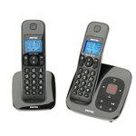 Pack de 2 téléphones sans fil DECT avec répondeur (version française) - Bonne affaire (article utilisé, garantie 2 mois)