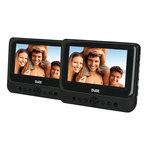 """2 Lecteurs DVD/DivX 9"""" Portable avec port USB + Supports pour appuie-tête"""