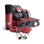 Interface audio USB 2.0 2 x 2 avec 2 préamplis + micro Scarlett CM25 + casque Scarlett HP60