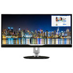 2560 x 1080 pixels - 5 ms - Format large 21/9 - Dalle IPS - Pivot - DisplayPort - Hub USB - Noir