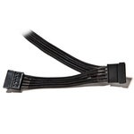 Câble gainé avec 2 connecteurs SATA - 40 cm