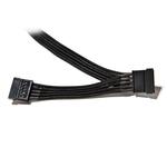 Câble gainé avec 2 connecteurs SATA - 70 cm