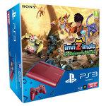 Console Playstation 3 Ultra Slim Rouge 12 Go + le jeu Invizimals : Le Royaume Perdu