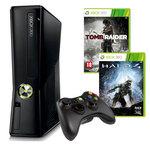 Console Microsoft Xbox 360 + Disque dur intégré 250 Go + Wireless Controller + 1 mois d'abonnement Xbox LIVE Gold + 2 jeux (en téléchargement)