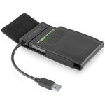 """Câble adaptateur avec étui pour disque dur 2.5"""" sur port USB 3.0 (Noir)"""