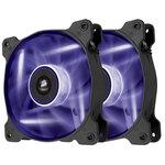 Paire de ventilateurs de boîtier 120 mm avec LEDs violettes