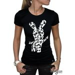 """Abystyle Tshirt """"Silhouette"""" Lapins Cretins Taille M"""