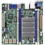 Carte mère Mini ITX avec processeur Intel Atom C2750 - 4x DIMM DDR3 - SATA 6Gb/s - USB 2.0 - 1x PCI-Express 2.0 8x - 2x Gigabit LAN