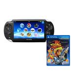 Sony Playstation Vita Wi-Fi / 3G Noire + The Jak and Daxter Trilogy - Classics HD (PS Vita)