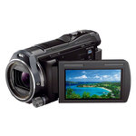 Caméscope Full HD Mémoire flash avec projecteur intégré et Wi-Fi