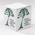Bloc cube papier blanc recyclé 80g