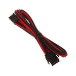 Extension d'alimentation gainée - EPS12V 8 pins - 45 cm (coloris rouge/noir)
