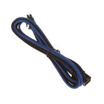 Extension d'alimentation gainée - PCI Express 6 broches - 45 cm (coloris bleu/noir)
