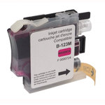 Cartouche d'encre magenta compatible Brother LC121/LC123/LC125