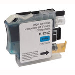 Cartouche d'encre cyan compatible Brother LC121/LC123/LC125