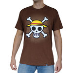T-shirt One Piece chocolat
