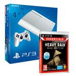 Console Playstation 3 Ultra Slim 500 Go version Blanche + le jeu Heavy Rain