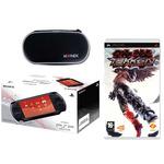 Console PSP Street coloris noir + Tekken Dark Ressurection +  Etui de transport pour PSP