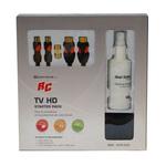 Câble HDMI 1.5 m + Cable antenne coaxial 3 m + Spray et chiffon nettoyants pour TV