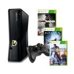 Console Microsoft Xbox 360 + Disque dur intégré 250 Go + trois jeux