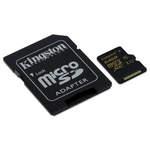 MicroSDXC 64 Go High Capacity Class 10 avec adaptateur SD (garantie à vie par Kingston)