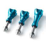 Vis de serrage anodisées pour accessoires GoPro - Bleu