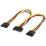 Câble alimentation SATA male vers 2 x SATA femelle - 20 cm