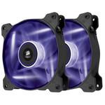 Paire de ventilateurs de boîtier 140 mm avec LEDs violettes