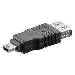 Adaptateur USB 2.0 type A femelle / mini type B mâle