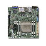 Carte mère Mini ITX avec Intel Atom C5550 - Aspeed AST2400 -  2x SATA 6Gb/s - 4x SATA 3Gb/s - 4x USB 3.0 - 1x PCI-E 2.0 8x - 4x Gigabit LAN