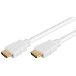 Cordon High Speed HDMI with Ethernet Blanc (0.5 mètre)