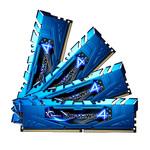 Kit Quad Channel 4 barrettes de RAM DDR4 PC4-19200 - F4-2400C15Q-32GRB (garantie 10 ans par G.Skill)