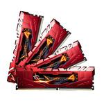 Kit Quad Channel 4 barrettes de RAM DDR4 PC4-21300 - F4-2666C15Q-32GRR (garantie 10 ans par G.Skill)