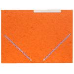 Chemise à élastiques 3 rabats 375g format 24 x 32 cm en carte 5/10eme Orange