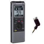 Dictaphone avec microphones à faible bruit et support de table - USB - 2 Go + Mini microphone mono