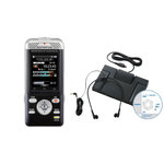 Dictaphone Wi-Fi compatible Smartphone 4 Go et lecteur de carte SD + Kit de transcription