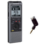 Dictaphone avec microphones à faible bruit et support de table - USB - 2 Go + Dragon NaturallySpeaking + Microphone mono