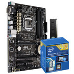 Carte mère ATX Socket 1150 Intel H97 Express + CPU Intel Core i3-4160 (3.6 GHz) + RAM 4 Go DDR3