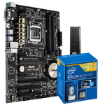 Carte mère ATX Socket 1150 Intel H97 Express + CPU Intel Core i5-4460 (3.2 GHz) + RAM 4 Go DDR3