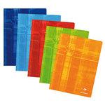 Clairefontaine Cahier Metric piqûre 192 pages 24 x 32 cm grands carreaux Seyès coloris aléatoires