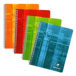 Clairefontaine Cahier Metric Spirale 180 pages 17 x 22 cm petits carreaux 5 x 5 mm coloris aléatoires