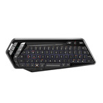 Mini clavier de salon rétro-éclairé sans fil (bluetooth) compatible Windows, Android et iOS (AZERTY, Français) - (coloris noir)