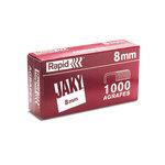 Rapid boite de 1000 agrafes Jaky 8mm cuivre
