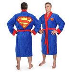 Peignoir en polyester avec logo Superman - 120cm
