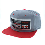 Casquette motif NES grise et rouge
