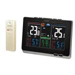 Station météo avec écran couleur LCD et capteur de température intérieure/extérieure