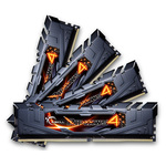 Kit Quad Channel 4 barrettes de RAM DDR4 PC4-21300 - F4-2666C15Q-32GRKB (garantie 10 ans par G.Skill)